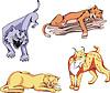 Wilde Predator Katzen Set