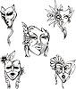 Vector clipart: Carnival Venetian Masks Set