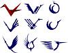 Vector clipart: Icon Set of Cranes