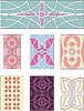 Vector clipart: Set of ornamental patterns in mannerism style