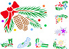 Vector clipart: Set of winter holiday xmas decorations