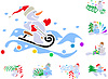 Vector clipart: Set of winter holiday decorations with snowmen
