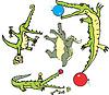 Набор комических аллигаторов в Curcus (crococircus)