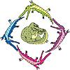 Vector clipart: Crocouroboros (ouroboros of gators)