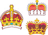 Vector clipart: Set of heraldic royal and prince crowns