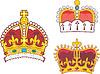 Набор геральдических королевских и княжеских корон | Векторный клипарт