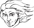 Vector clipart: Guy face outline