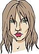 Vector clipart: Female face