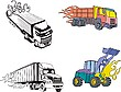 Vector clipart: Truck flames