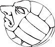 Vector clipart: Volleyball head