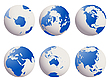 Earth globes set | Stock Vector Graphics