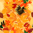Vector clipart: Fall leaves pattern