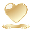 Vector clipart: golden shiny heart