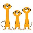 Vector clipart: Curious meerkats