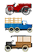 Vector clipart: Retro trucks