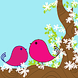 Vector clipart: spring background card