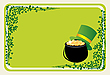 Vector clipart: St Patrick`s frame