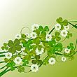 Векторный клипарт: цветочный паттерн ко дню Св. Патрика