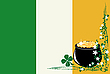 Vector clipart: St. Patrick`s Day and Irish Flag