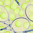 Vector clipart: tennis seamless background