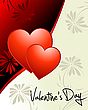 Vector clipart: Valentine`s day wallpaper