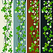 Vector clipart: Vertical headers with St. Patrick clovers