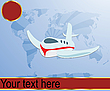 Vector clipart: Air travel illustration