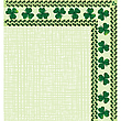 Corner / border with clover