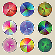 Vector clipart: Color wheels