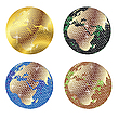 Disco globes | Stock Vector Graphics