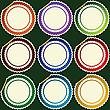 Пустые круглые наклейки