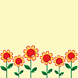 Vector clipart: floral card design