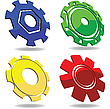 Vector clipart: Gear icons