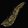 Vector clipart: Golden feather
