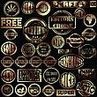 ID 3002092 | Złote znaczki grunge | Klipart wektorowy | KLIPARTO
