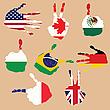 flags gestures