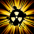 Vector clipart: Grunge nuke sign