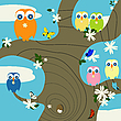 Vector clipart: Owls nest