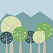 Vector clipart: Pastel forest