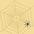 Vector clipart: Spider web