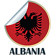 Vector clipart: Albania Sticker