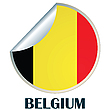 Vector clipart: Belgium Sticker