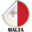 Vector clipart: Malta Sticker