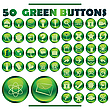 Vector clipart: green buttons
