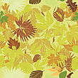 Vector clipart: green leaves pattern