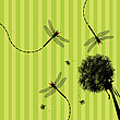 Dandelion and dragonfly | Stock Illustration