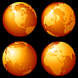 Earth globes | Stock Illustration