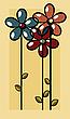 ID 3002439 | Art-Deco-Blumen-Karte | Illustration mit hoher Auflösung | CLIPARTO