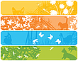 Photo 300 DPI: Web banners with spring theme