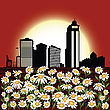 Urban flowers | Stock Illustration